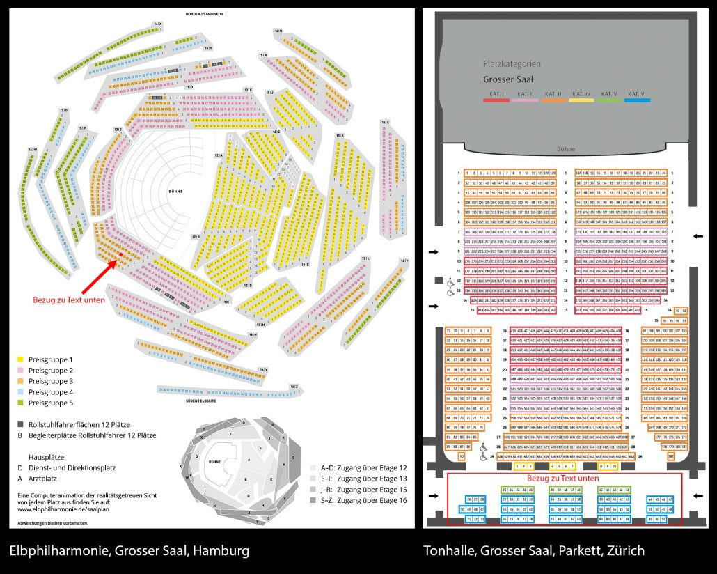 Saalplan elbphilharmonie
